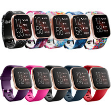 For Fitbit Versa/Versa 2 lite Watch Bands Fitness Strap With Metal Buckle for Fitbit Versa 2 Pure Color 23mm Width Wristband