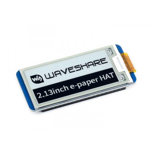 2.13 インチ電子ペーパー帽子 250 × 122 2.13 インチ電子インクディスプレイラズベリーパイ 3B/2B/ゼロ/ゼロワット spi インターフェースは、部分的なリフレッシュ