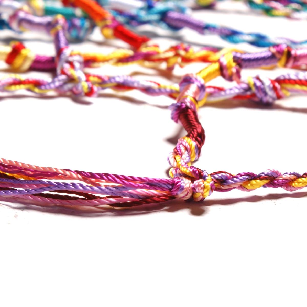 10pc Colorful Woven Braided Friendship Bracelet Handmade Brazilian String Cotton Cord Hippie Surf Men Women Jewelry Gift 4
