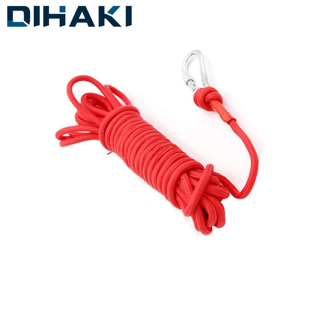 Rescue Rope 98/66/33 Feet With Metal Carabiner Outdoor Survival Tool Lifting Tools 260kg Bearing Mountaineering Auxiliary Rope