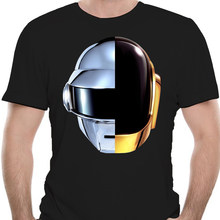 T-shirt Homme Blanc - Daft Punk Casque Harder Better Faster Stronger Musique T-Shirt Short Sleeve Fashion T Shirt
