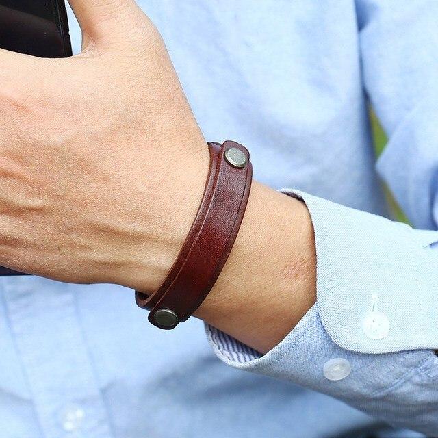 Мужские браслеты с пряжкой из кожи