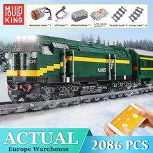 Bricks Kids Train Railway-Engine-Train Power-Function Toys Building-Blocks High-Tech