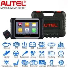 Autel MaxiCOM MK808BT OBD2 Car Auto Diagnostic Tool ABS SRS EPB BMS DPF All System Auto Diagnostic Tool Car Scanner Better MK808