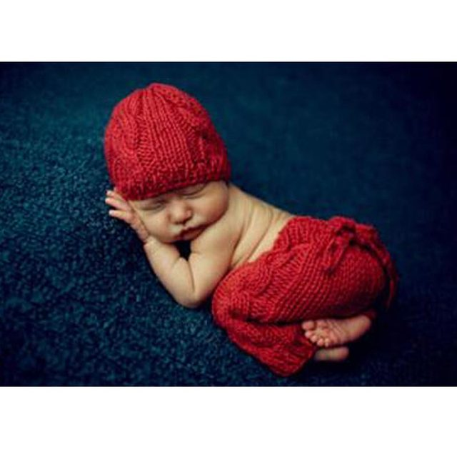 Newborn Baby Crochet Knit Costume Photo Photography Prop Outfits Delicate D6F7