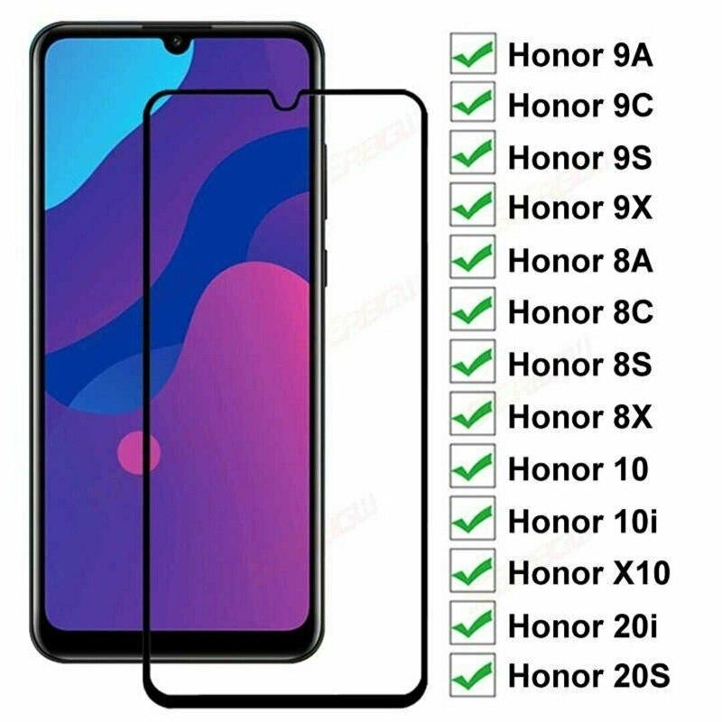 Закаленное стекло для Huawei honor 9A 9C 9S 9X 8A 8C 8S 8X, защитная пленка для экрана Honor 9i 10i 20i 20S, защитная стеклянная пленка