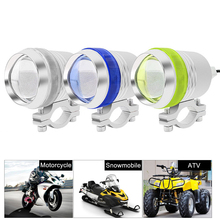 1 Or 2PCS x 3 Mode 3000LM Motorcycle LED Headlight Driving Spot Fog Light Lamp Waterproof Moto ATV Snowmobile