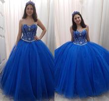 2021 классический синий сладкий 16 платья без бретелек rhnestones