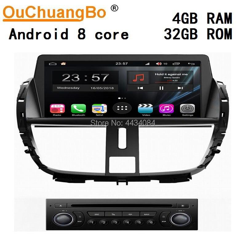Ouchuangbo voiture audio stéréo gps pour Peugeot 207 soutien 8 coeur aux usb swc miroir lien Wifi S300 plate-forme android 9.0