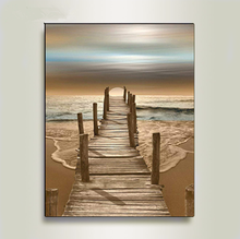 DIY Digital Painting Frame Landscape Poster Wall Canvas Oil  Now Art Living Room Home Decoration