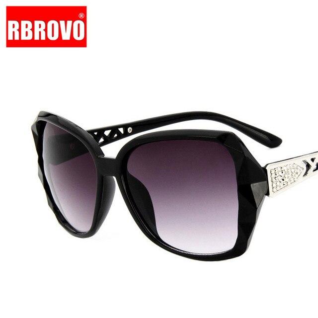 RBROVO-gafas De Sol con montura grande para mujer, anteojos De Sol femeninos con gradiente Vintage De diseñador De marca, gafas para ir De compras, UV400, De viaje, 2021 4