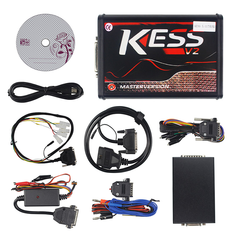 KESS V2 V2.53 V5.017 EU Rot ECM Titan KTAG V2.25 V7.020 4 LED Online Master Version BDM Rahmen ECU OBD2 auto/lkw Programmierer