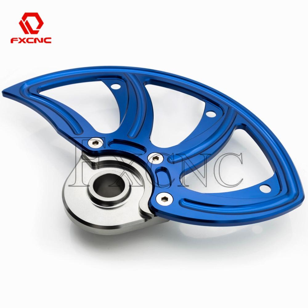 Bleu 22mm essieu moto frein avant disque Rotor garde couverture protecteur pour Husqvarna 125-501 250 350 450 tous les modèles 2016-2019
