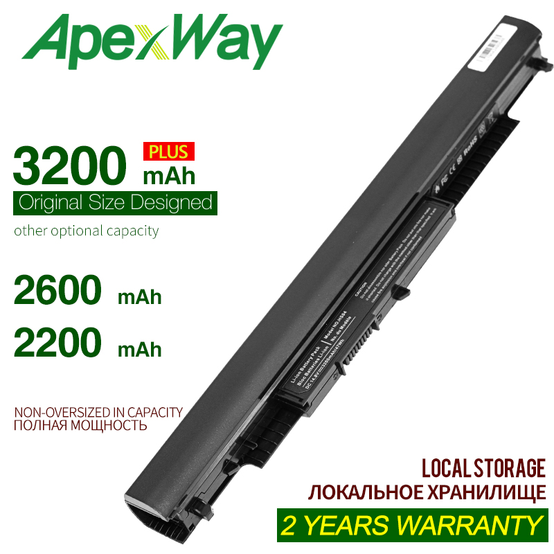 ApexWay 14.8V 4Cells HS03 HS04 HSTNN-LB6V HSTNN-LB6U Laptop Battery  For HP 240 245 250 G4 Notebook PC Pavilion 14-ac0XX