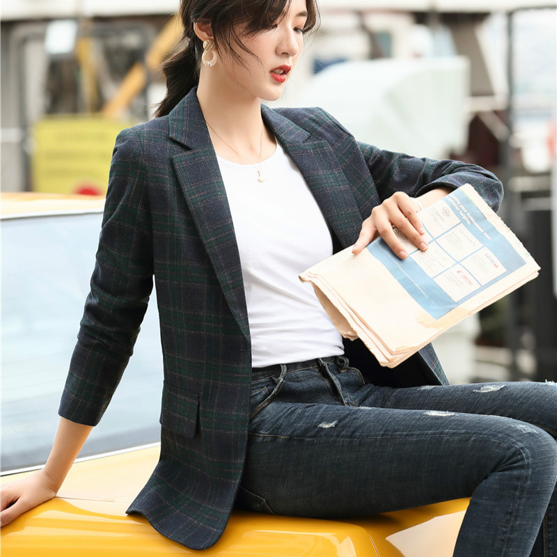 2020 Casual Blazer Women Jackets Ladies Female Elegant Formal Office Work Wear Blazer Clothes Long Sleeve Blazers and Jackets