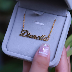 Custom Personalized Name Necklace For Women Stainless Steel Gold Chain Choker Nameplate Necklace Fashion Jewelry Christma Gift