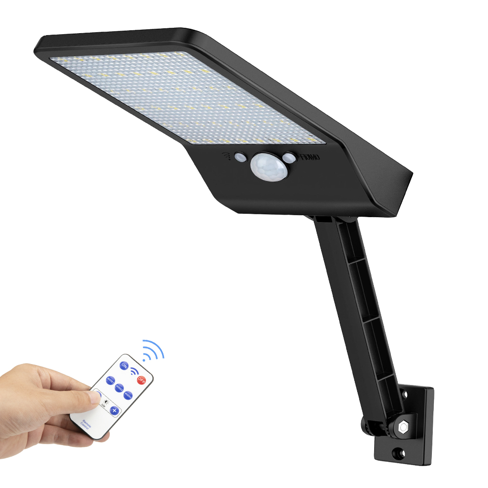 48 LED Solar Street Wall Spot Flood Light Outdoor Waterproof Garden Wall Pool Fence Lamp Remote Control Three Modes