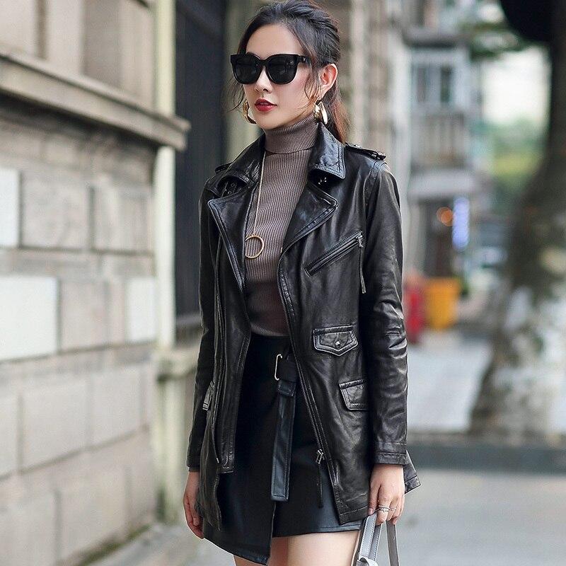 Genuine Leather Jacket Women Real Sheepskin Leather Jacket Spring Autumn 2020 Top Quality Plus Size Coat OT3715 MF168