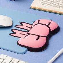 Милый 3d коврик для мыши с бантиком мягкий силиконовый Шелковый