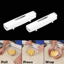 Cling Wrap Cling Film Cutter Food Holders Tools Dispenser Tool Kitchen Plastic Wrap Dispenser High Quality Foil Towel zonesun hot selling black color stretch wrap film machine adjustable film dispenser durable stainless steel