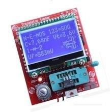 Kits diy digital combo componente m8 transistor tester capacitor lcr diodo capacitância esr medidor pwm onda quadrada 12864 lcd