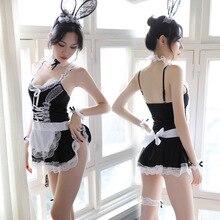 Lingerie Costume Maid-Uniform Cosplay Bunny Girl Underwear Babydoll Porno Erotic Sexy