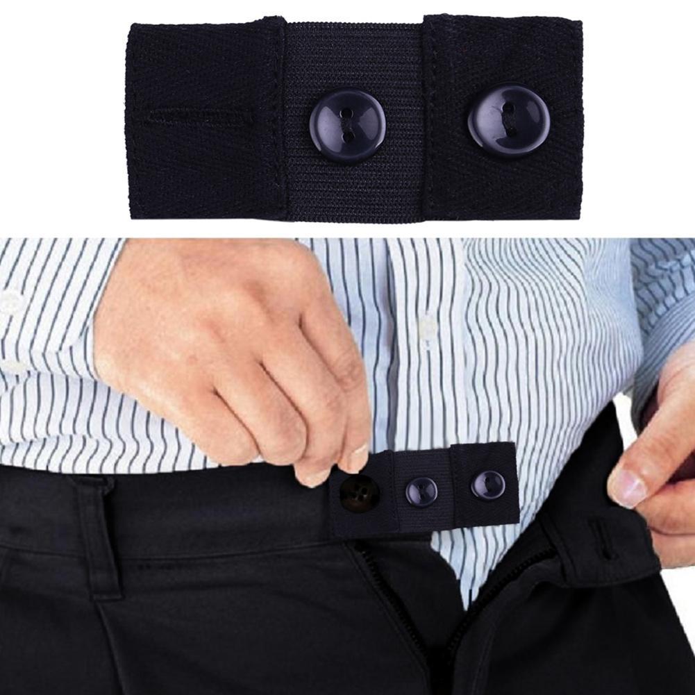 1Pcs Skirt Trousers Jeans Waist Expander Elastic Pregnancy Waistband Extender Button Belt Extension Buckle Belt WaistExtension