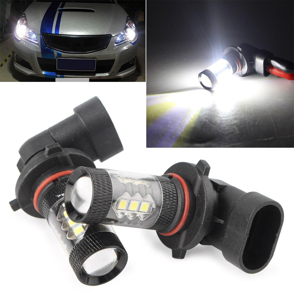 Автомобильные запасные белые лампы 12-24 в s H10 9140 9145 6000K Высокая мощность 80 Вт светодиодный ные ДХО Противотуманные фары дальнего света
