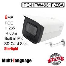 IPC HFW4631F ZSA Macchina Fotografica Della Pallottola IP 6MP IR 60M H.265 H.264 POE 2.7 millimetri ~ 13.5 millimetri obiettivo zoom motorizzato Starlight telecamera di rete con il marchio
