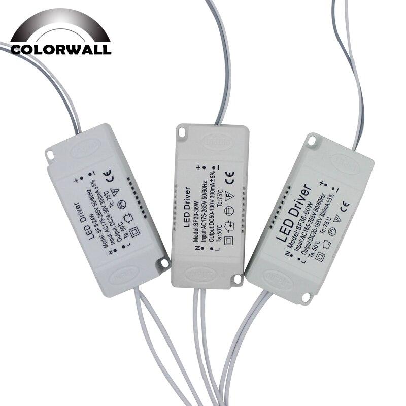 8-120W Ha Condotto L'adattatore Del Driver per Led di Illuminazione AC220V Non-Isolamento Trasformatore per La Luce di Soffitto Del Led di Ricambio
