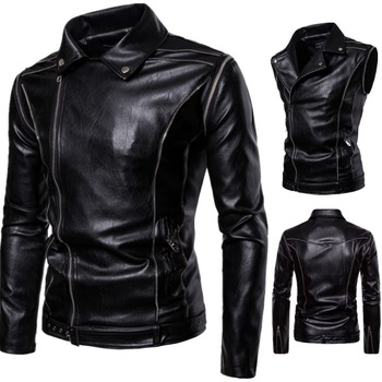 Free shipping,Mens Eur size jacket,Pu motor biker coat,slim fashion style cool clothing,black handsome clothes.