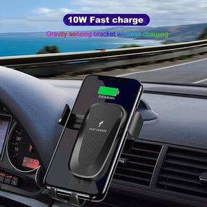 Image 2 - 10W Wireless Car Charger Stand Houder Air Vent Clip Mount Voor Samsung Galaxy Note 10 Plus Snelle Opladen Telefoon car Holder Stand