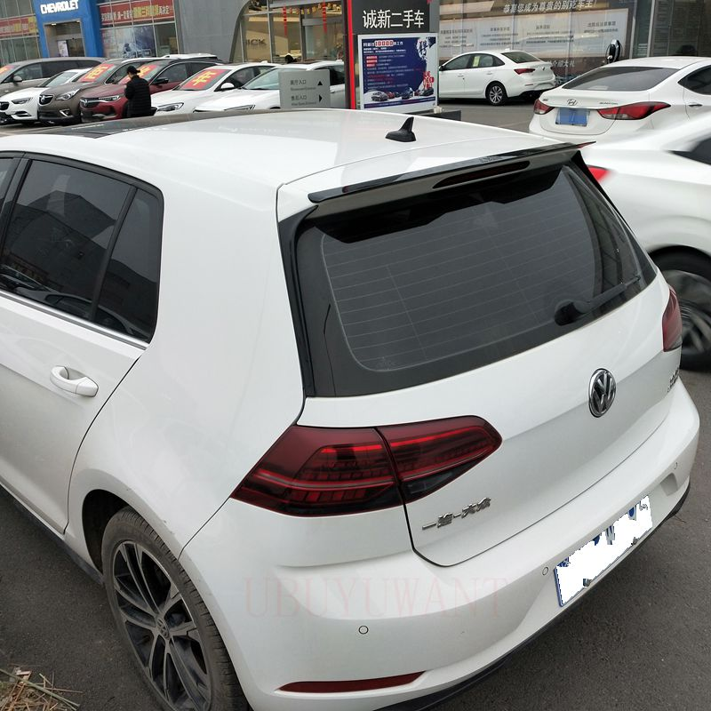 UBUYUWANT For VW Golf Spoiler For Volkswagen Golf 7 MK7/7.5 VII GTI R Rline 2014-2019 Window Roof LiP Spoiler ABS Tail Rear Wing