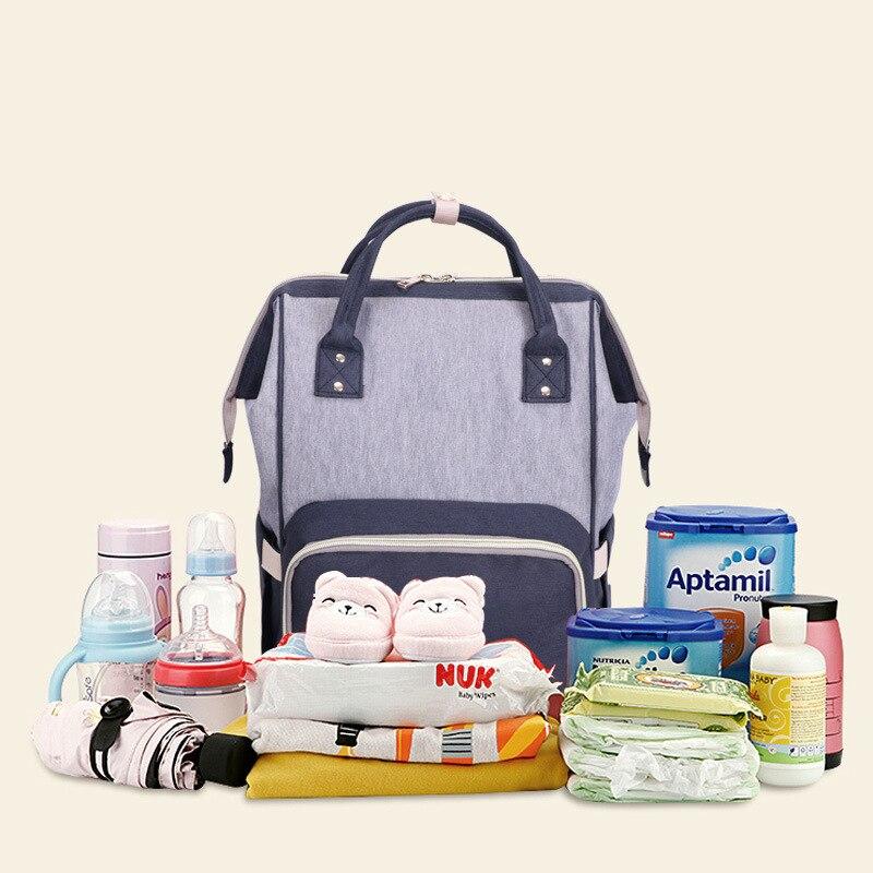 Phantom Multi-functional Mummy Bag Nursing Back Baby Bag Baby Large-Volume Backpack Fashion Mommy Bag