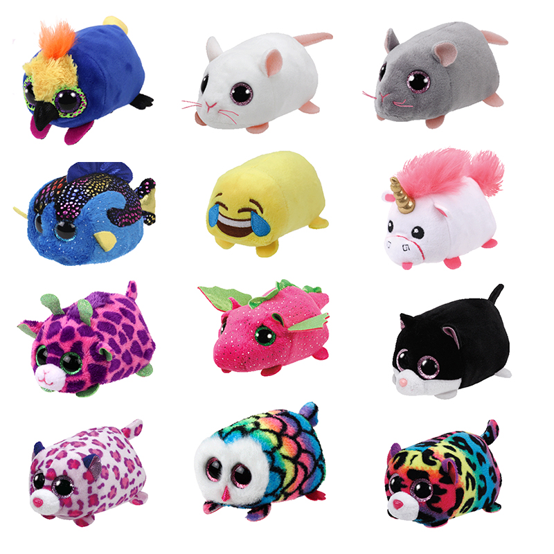 American Brand Mini 8-10cm Tsum Cleaner Cat Seal Dog Rabbit Penguin Sequin Plush Toy Stuffed Animal Christmas Gifts With Tag