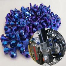 10 шт. M5 x12mm Титан сплав винты стандарта Torx дисковые тормоза мотоцикла болты титановые винты