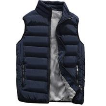 Повседневный жилет для мужчин, осенне-зимние куртки, толстые жилеты, мужские пальто без рукавов, мужской теплый жилет с хлопковой подкладкой, мужской жилет veste hommes