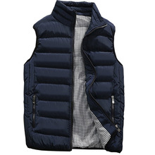 Casual Vest Men Autumn Winter Jackets Thick Vests Man Sleeveless Coats Male Warm Cotton Padded Waistcoat men gilet veste hommes