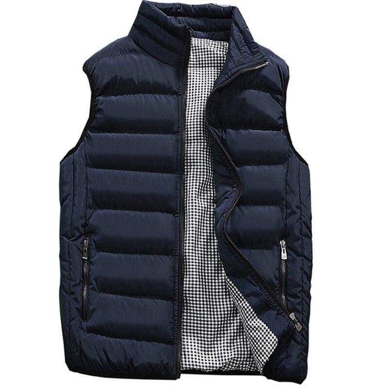 Gilet décontracté hommes automne hiver vestes épais gilets homme sans manches manteaux mâle chaud coton-rembourré gilet hommes gilet veste hommes