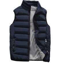 Veste épaisse sans manches pour homme, matelassée, en coton, collection automne hiver gilet décontracté
