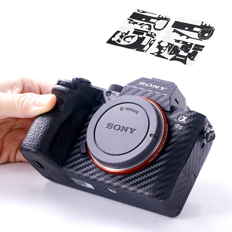 Anti-Scratch Camera Body Carbon Fiber Film Kit For Sony A7 III A7R III A7III A7RII A7II A9 A7M3 A7RM4 Cameras Skin Sticker