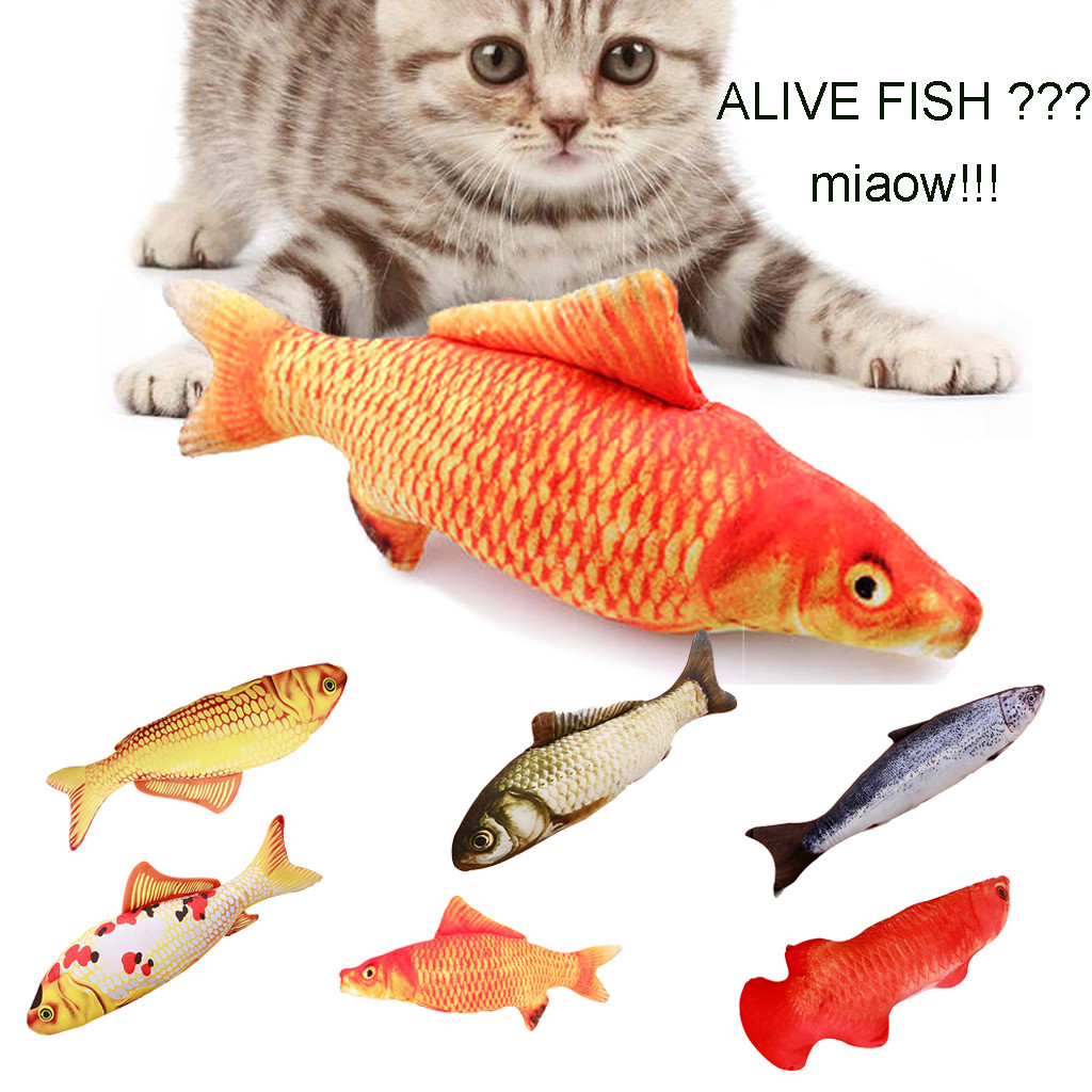 Cat Wagging Fish Realistic Plush Simulation Electric Doll Fish Plush Toy Cat Kicker Fsh Toy