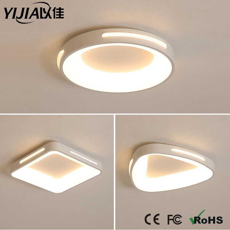 Lâmpadas de teto modernas do diodo emissor de luz do dimmer 6/15/18/24/26/31/32/38 w para a superfície da sala de estar montado lâmpada do quarto