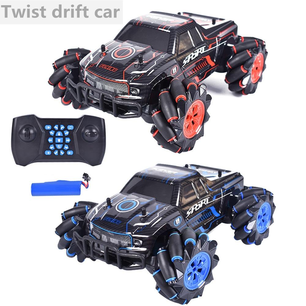 2020 New Rc Car 1:16 Four-wheel Drive Stunt Car Light Programming Forward Music Dancing Car 360 ° Rotating Off-road Climbing Car