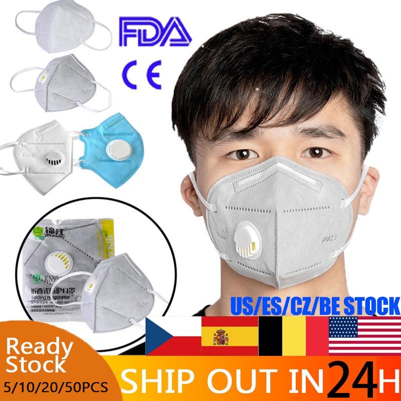 20 Pcs KN95 Masks Anti Pollution Dust Respirator Washable Reusable Masks Unisex Mouth Muffle Allergy Same As KF94 FFP3 FFP2