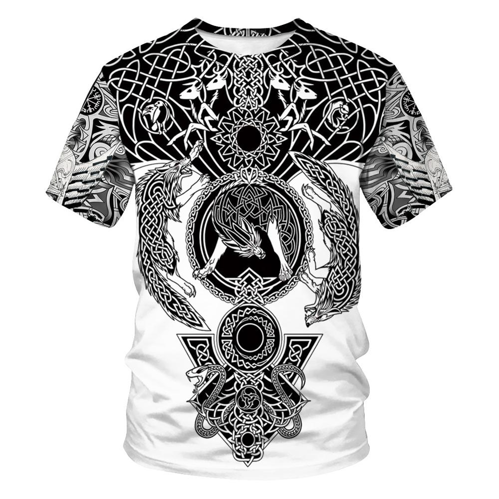 New Viking Shirt Sons Of Valhalla Arrival Tattoo T-Shirt Myths T Shirt Cool Humorous Super Homme T-shirts O Neck Couples 5 Size