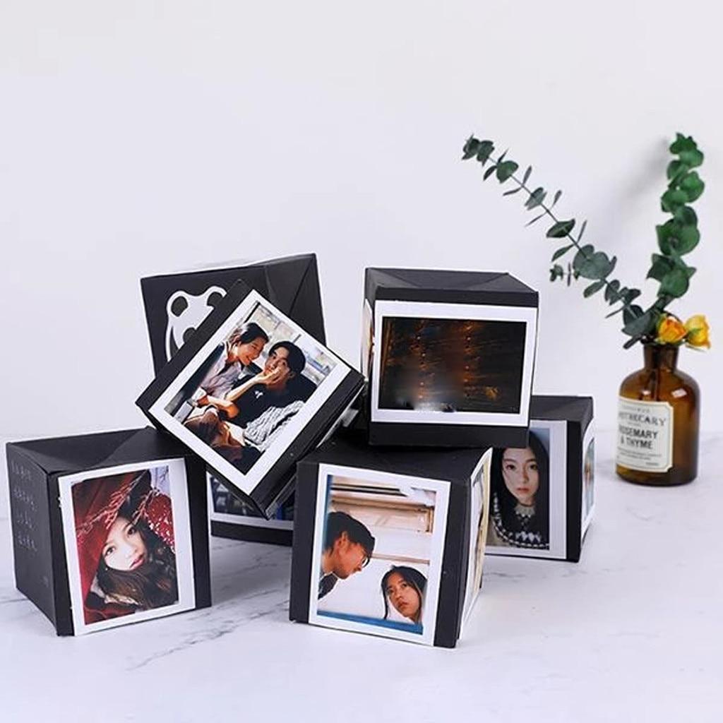 Diy cartão criativo surpreendido para parceiro namorada amigos foto cartão conjunto álbum caixa de presente do casamento dos namorados crianças presentes de natal