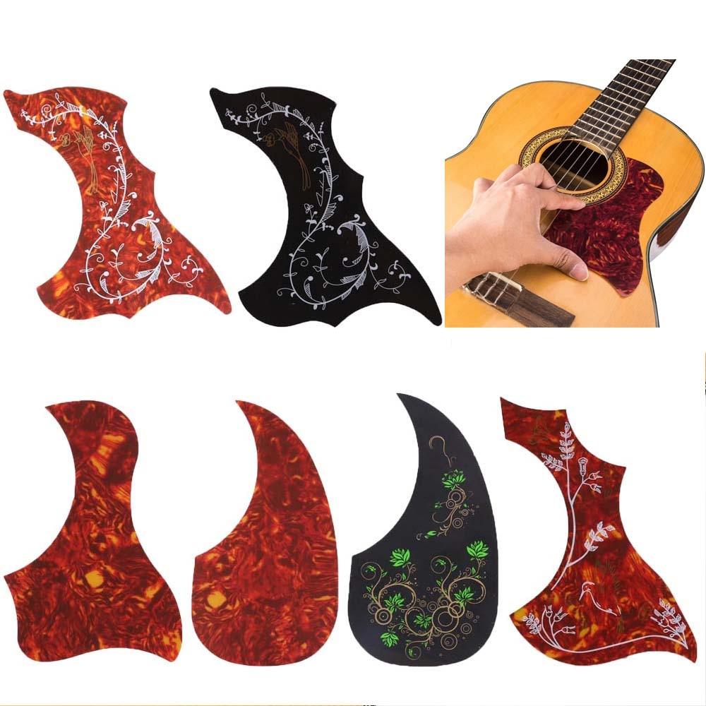 Acoustic Guitar Pickguard Scratch Plate Self Adhesive Pick Guard Sticker Folk Acoustic Guitar Pickguard Accessories