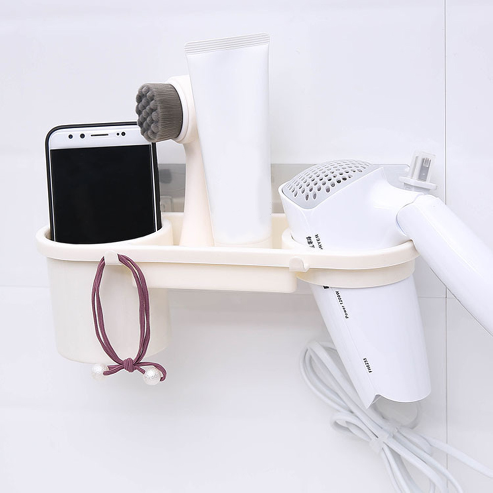 Bathroom Hair Dryer Holder ABS Wall Stand Sturdy Adhesive Mount Stand Washroom Storage Rack Bathroom Accessories Drop Shipping