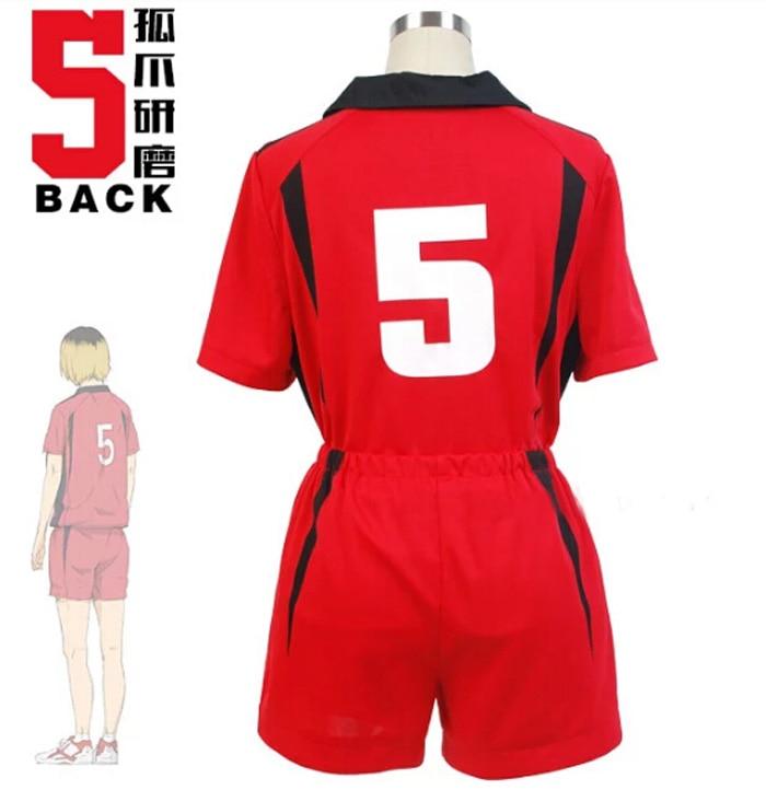 Haikyuu-!! Nekoma-uniforme de Cosplay, vêtements de sport pour lycée #5 1 Kenma Kozume kouroo Tetsuro Haikiyu volleyball Team, maillot